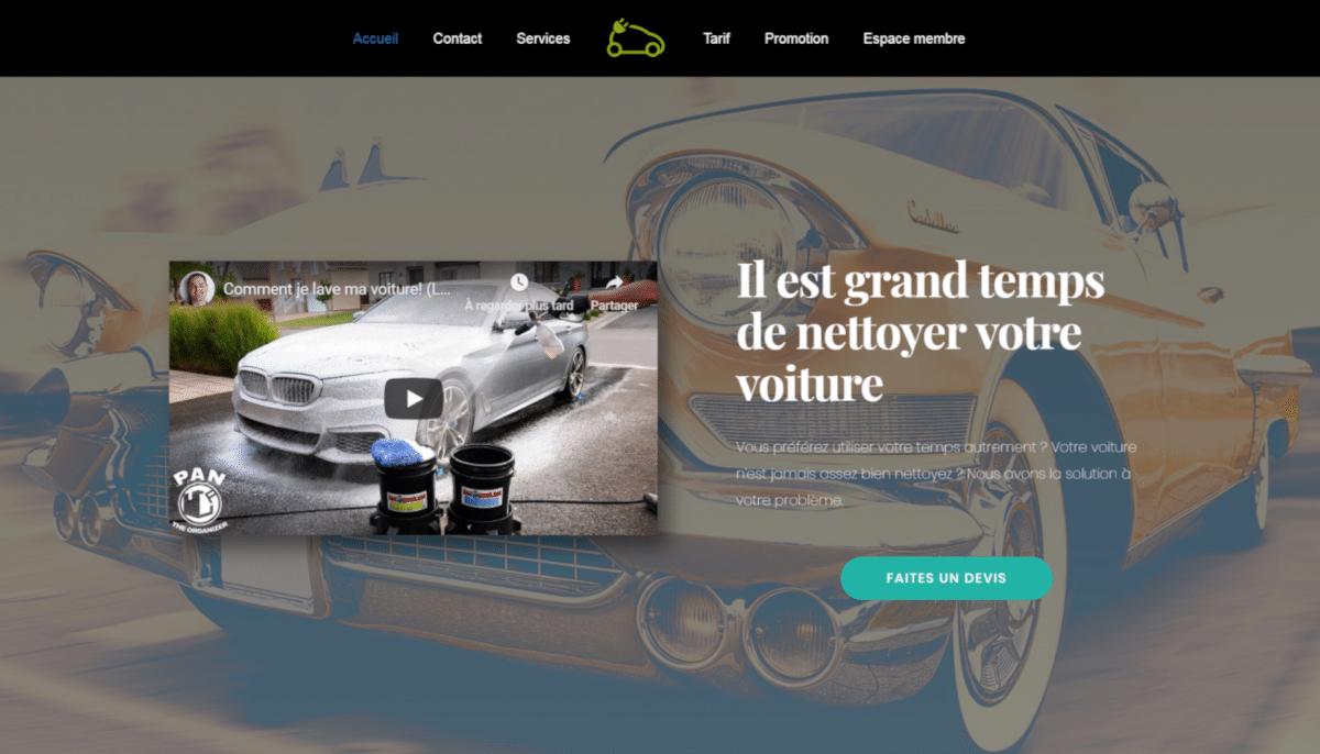 Site web pour autonet