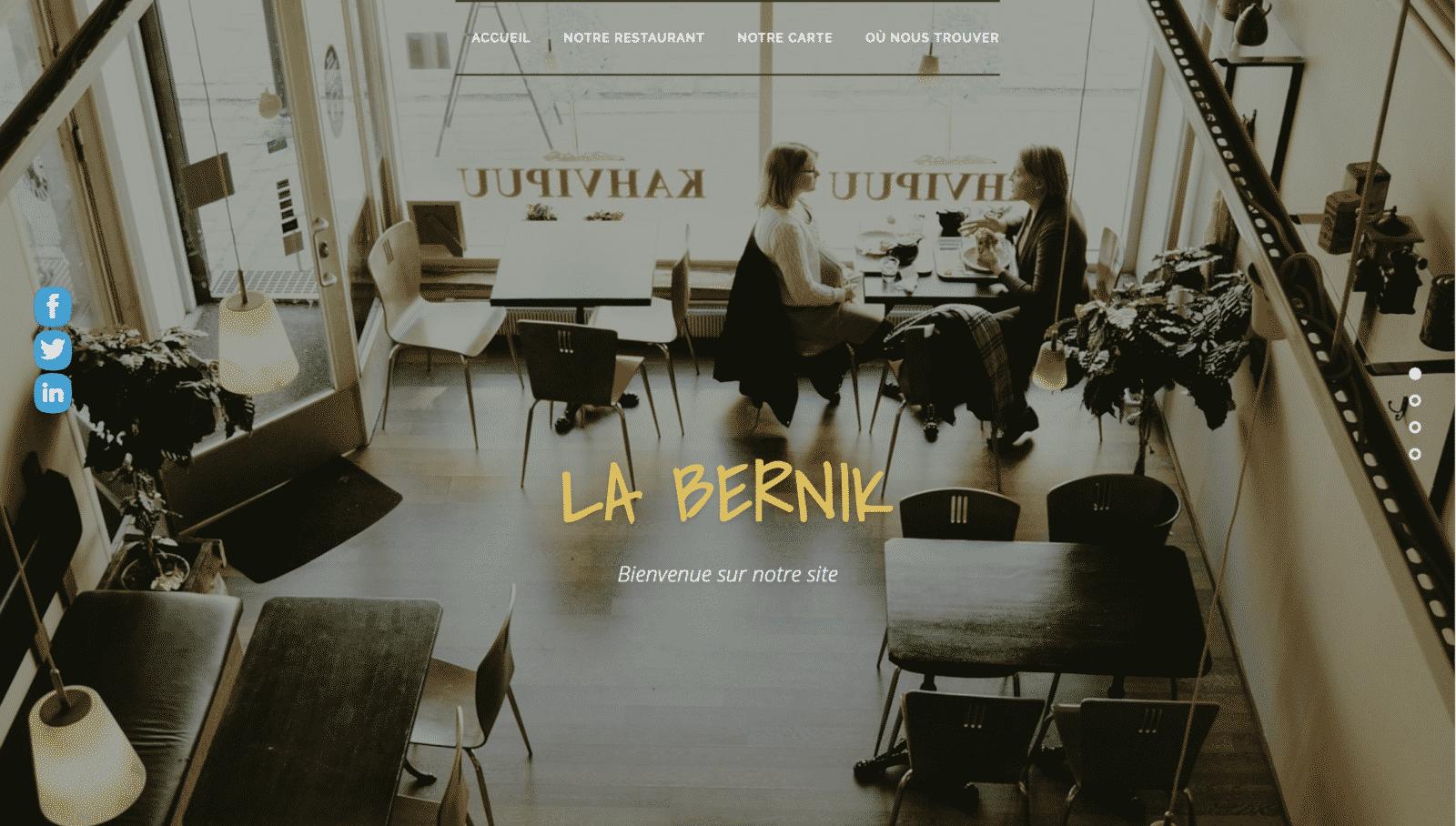 Site web du restaurant labernik